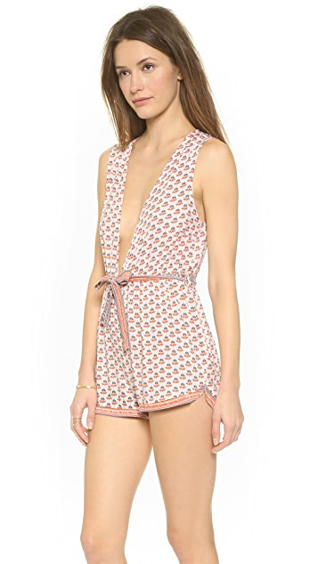 FAITHFULL THE BRAND White Sand Romper
