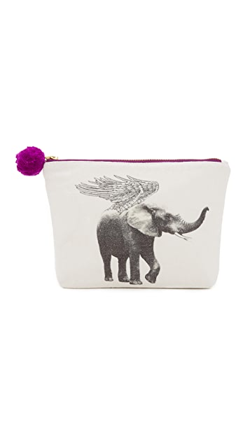 Figue Pouch with Flying Elephant