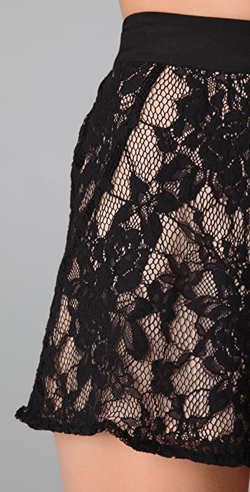 findersKEEPERS Magic Dance Lace Shorts