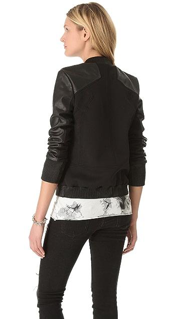Francis Leon Runamuck Leather & Neoprene Jacket