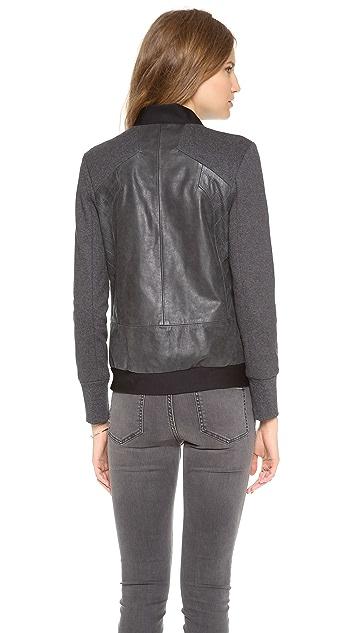 Francis Leon Muckarun Leather Jacket