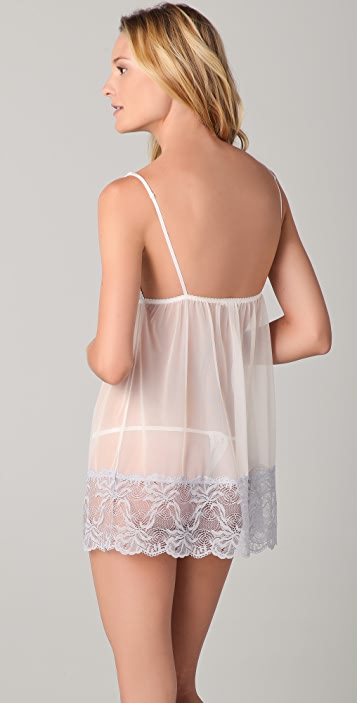 Fleur't Bridal Lace Chemise with G-String