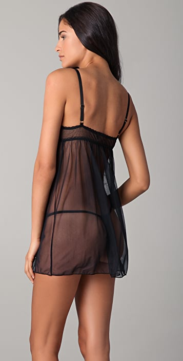 Fleur't Fleur't With Me Baby Doll Chemise with G-String