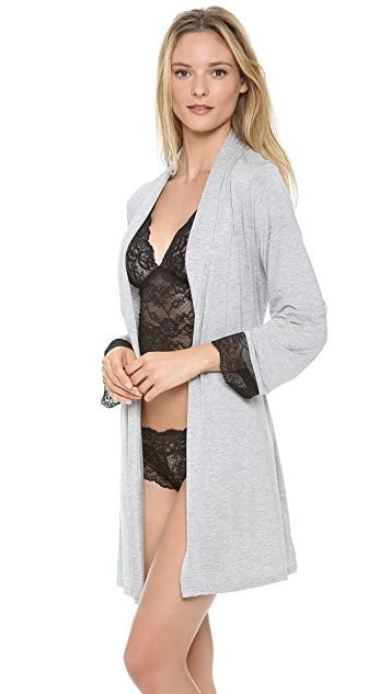 Fleur't Come Away with Me Lace Cuff Robe