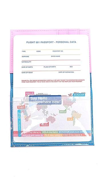 Flight 001 Ni Hao Passport Case