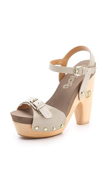 Flogg Cassie Platform Clog Sandals