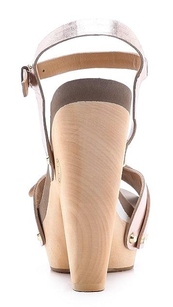 Flogg Cassie Metallic Platform Clog Sandals
