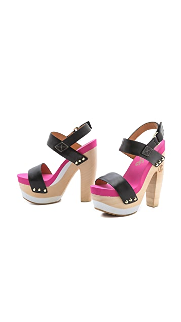 Flogg Rexfort Two Band Platform Clog Sandals
