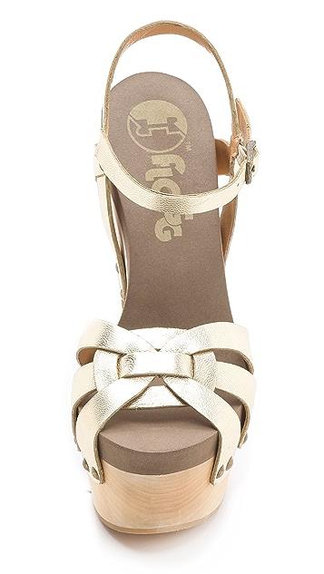 Flogg Rainbow Metallic Clog Sandals