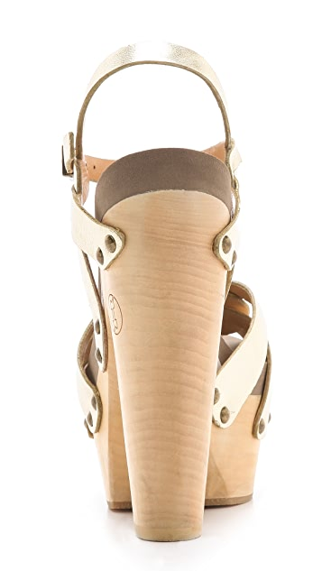 Flogg Rainbow Metallic Clog Sandals