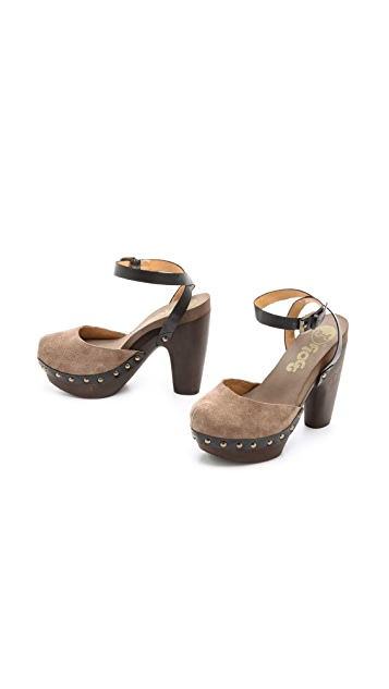 Flogg Darcie Chunky Suede Sandals