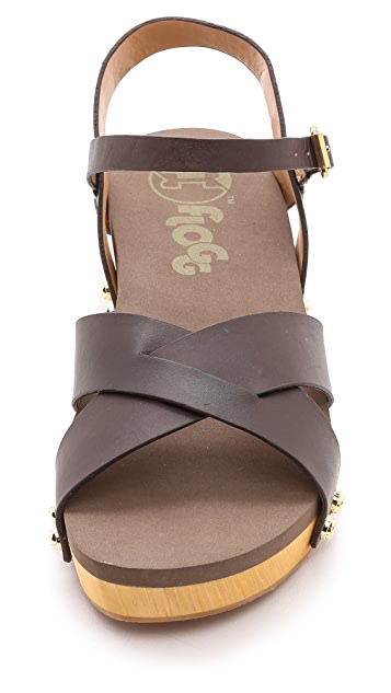 Flogg Nessy Ankle Strap Flat Sandals