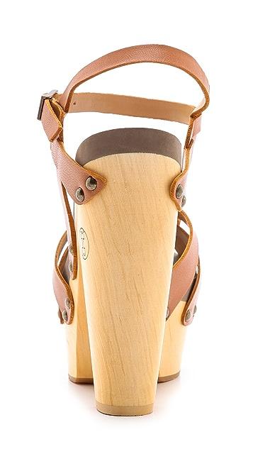 Flogg Rainbow Platform Clog Sandals