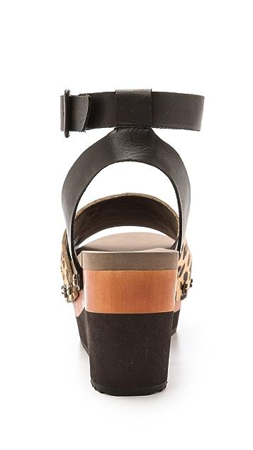 Flogg Poppi Haircalf Platform Sandals