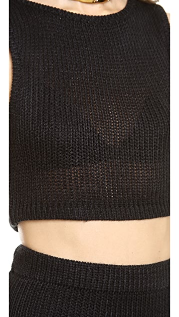 For Love & Lemons Sporty Knit Crop Top