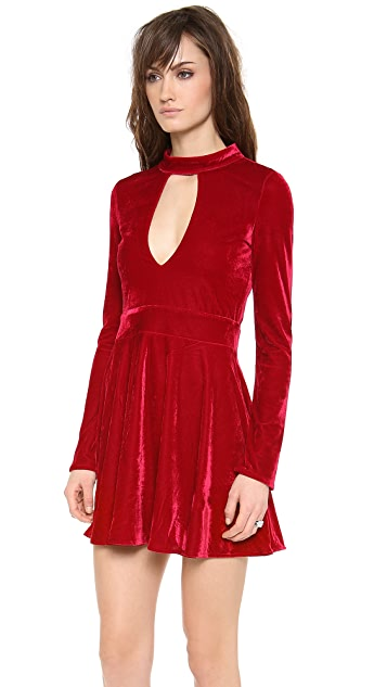 For Love & Lemons Velvet Anna Dress