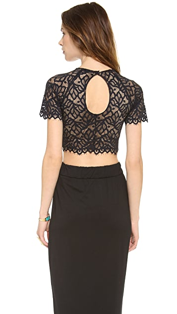 For Love & Lemons Buenas Noches Crop Top
