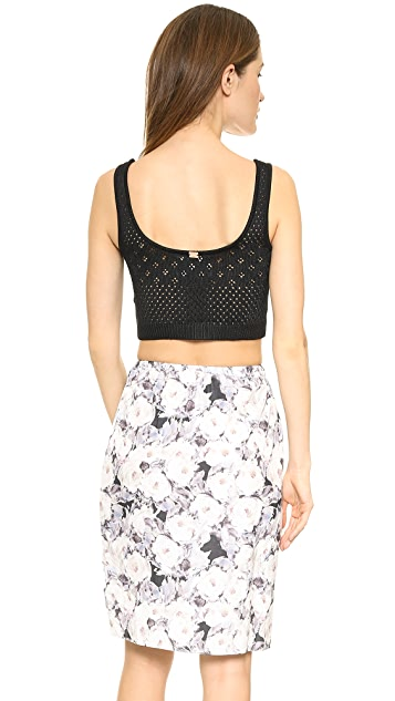 For Love & Lemons Soul Pointelle Crop Top