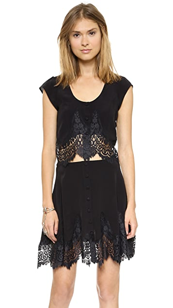 For Love & Lemons Gilly Girl Crop Top