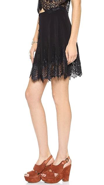 For Love & Lemons Gilly Girl Miniskirt