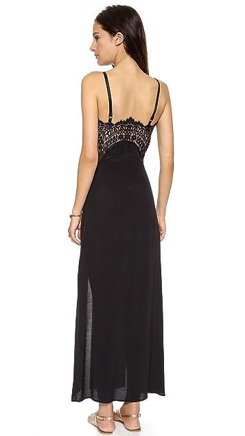 For Love & Lemons Bourbon Lace Maxi Dress