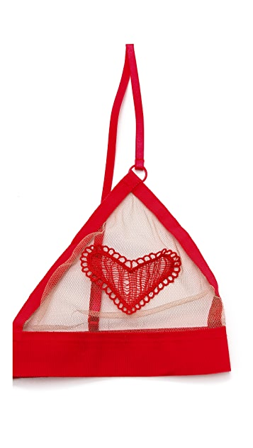 For Love & Lemons Heart Bralette