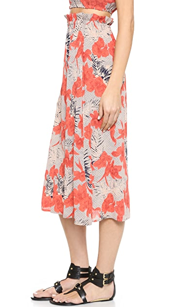 d919ee5f5aad ... For Love   Lemons Mai Tai Midi Skirt ...