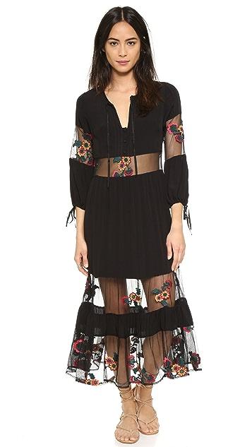For Love & Lemons Eva Midi Dress