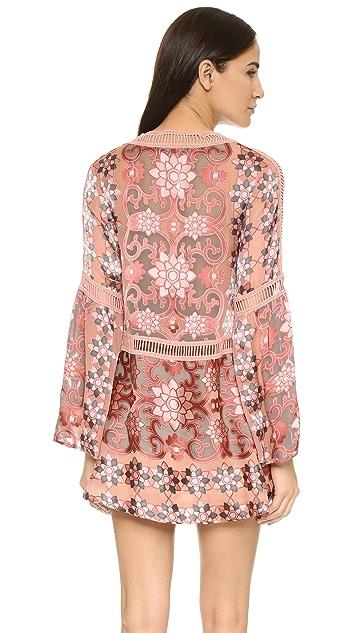 For Love & Lemons Juliet A Line Mini Dress