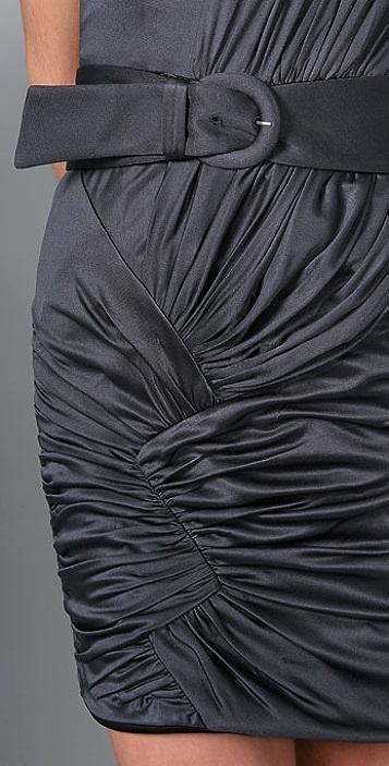 Foley + Corinna Zigzag Jersey Asymmetrical Dress