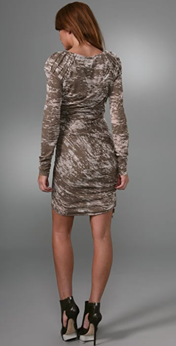 Foley + Corinna Long Sleeve Burnout Dress