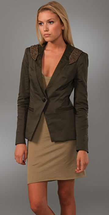 Foley + Corinna Studded Epaulet Jacket