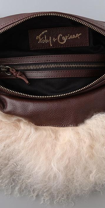 Foley + Corinna Mongolian Lamb Small Square Bag