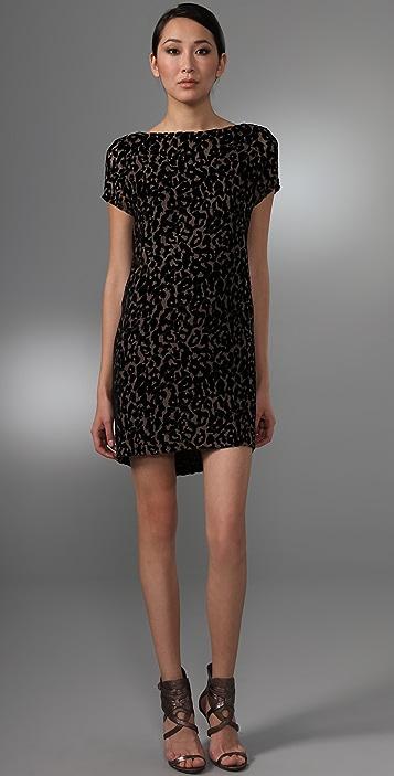 Foley + Corinna Burnout Leopard Dress