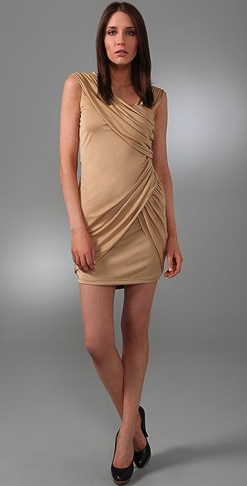 Foley + Corinna Asymmetrical Faux Wrap Dress