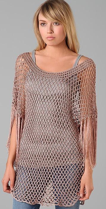 Foley + Corinna Crochet Fringe Sweater
