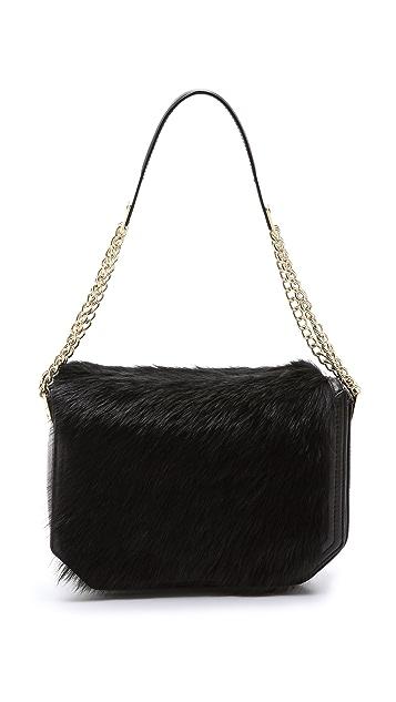 Foley + Corinna Plated Shearling Shoulder Bag