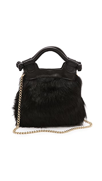 Foley + Corinna Tiny City Shearling Cross Body Bag