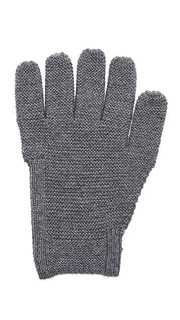 Folk Reverse Knit Gloves