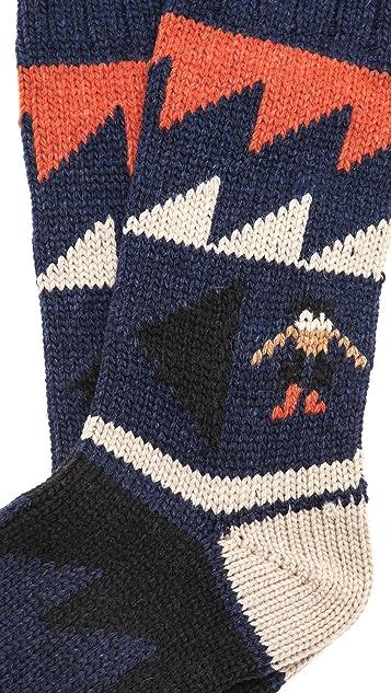 Folk Graphic People Socks