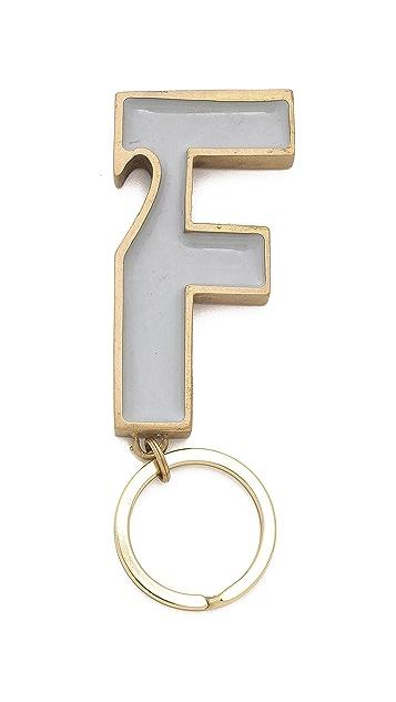 Folk F Key Ring
