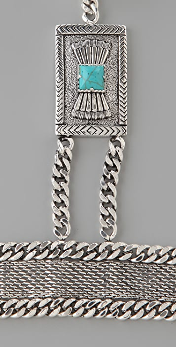Fortune Favors the Brave Concho Chain Hand Piece