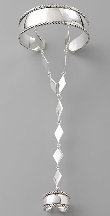 Fortune Favors the Brave Diamond Hand Chain
