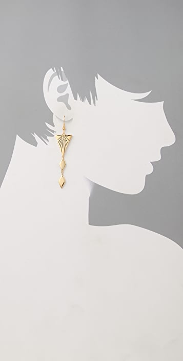 Fortune Favors the Brave Pyramid Ray Earrings
