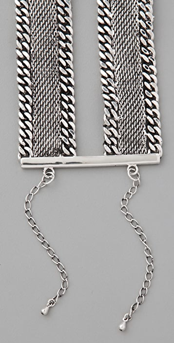 Fortune Favors the Brave Flat Chain Bracelet