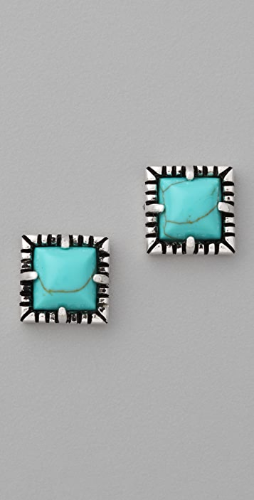 Fortune Favors the Brave Rope Edged Stud Earrings