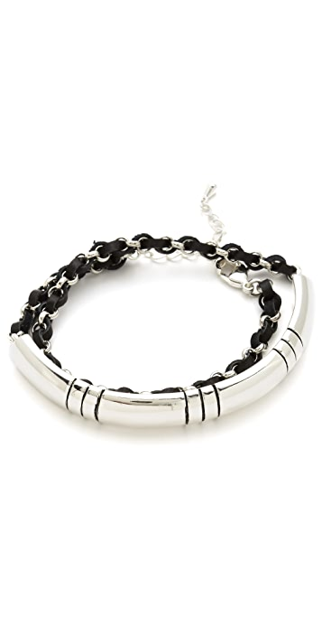 Fortune Favors the Brave Stripe Wraparound Bracelet