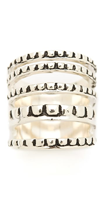 Fortune Favors the Brave Scallop Stack Ring