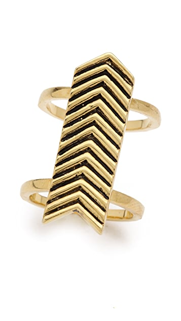 Fortune Favors the Brave Tall Arrow Ring