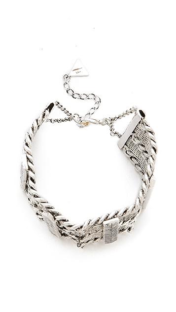 Fortune Favors the Brave Arrow Chain Bracelet